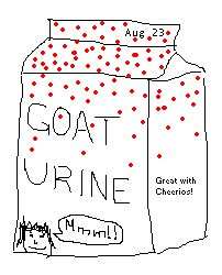 goat urine (pc)